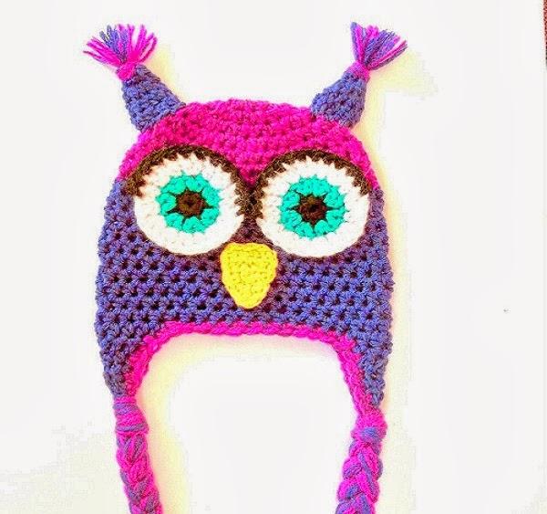 Crochet Patterns Owl Hat : Cute Designs: Owl Hat Pattern Crochet Pattern