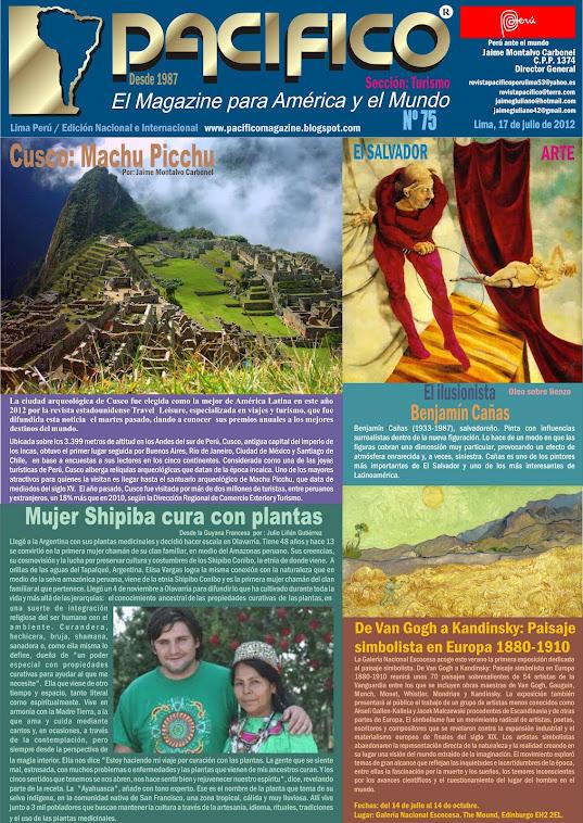 Revista Pacífico Nº 75 Turismo
