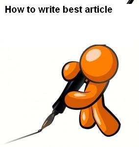 Article Writing Technique