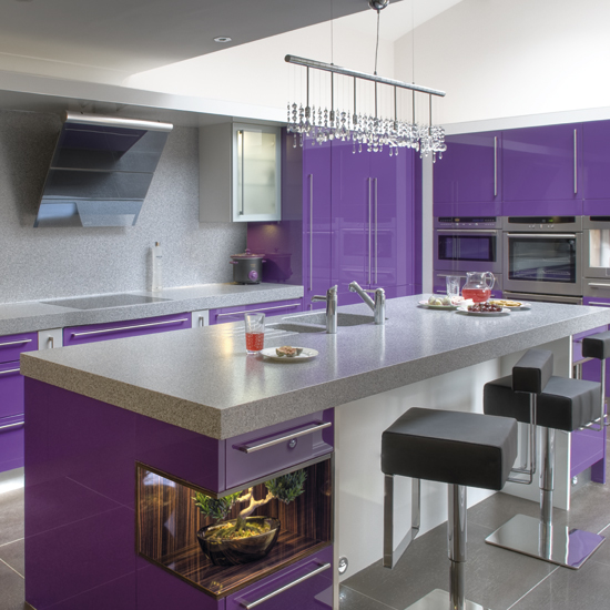 The Trendiest Kitchen Colors For 2019 Are Definitely Not: Cabinets For Kitchen: Purple Kitchen Cabinets