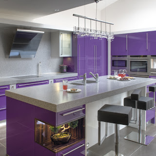 modern purple kitchen cabinets