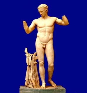 El Diadumeno de Policleto. Obras de Policleto. Escultores Griegos. Grecia