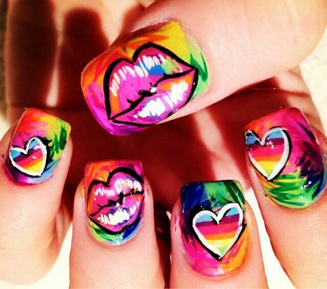Uñas decoradas Para las amantes de lo extravagante, estas uña son