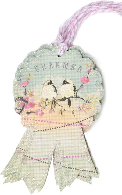PAPAYA : Charmed Glitter Gift Tag 6 Pack