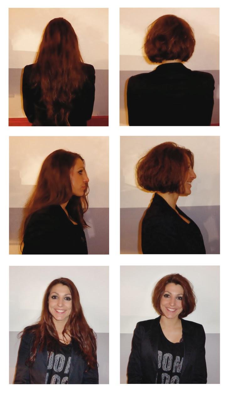Laeticia, avant et après sa visite au Studio 54,  après passage dans les mains d'Eddy, coiffeur à Montpellier.