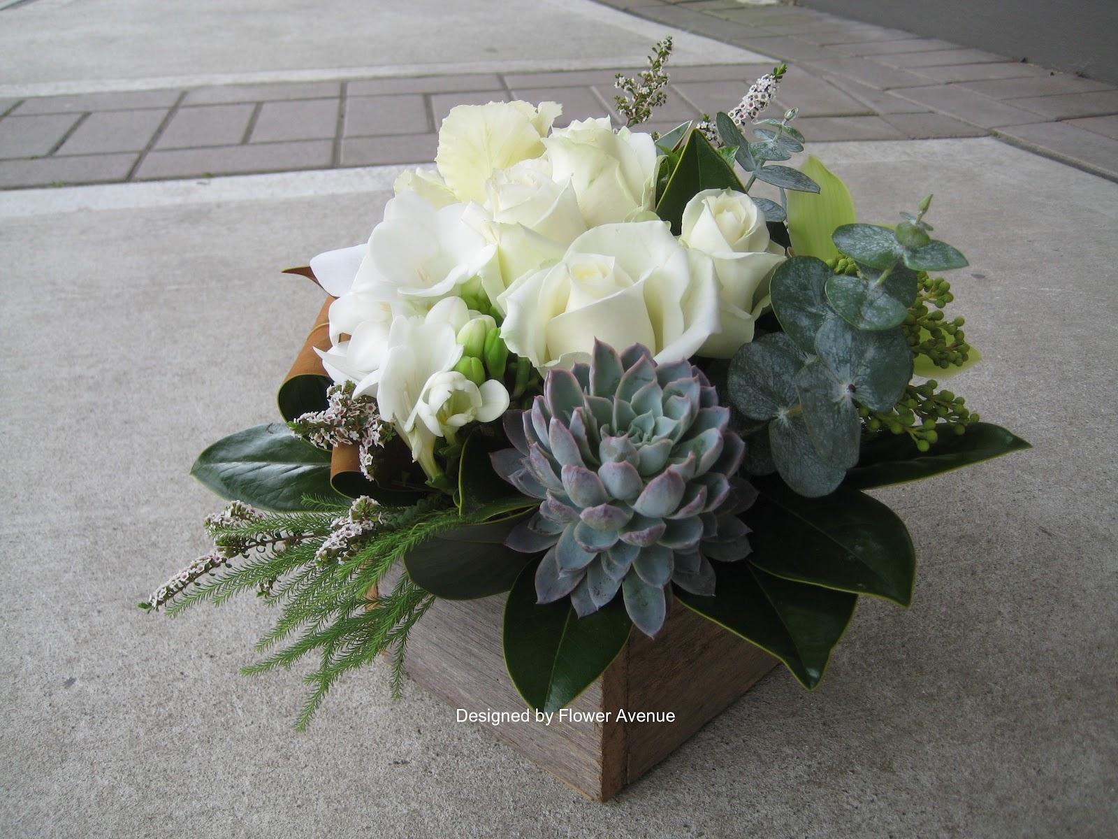 Flower avenue floral arrangements with succulents