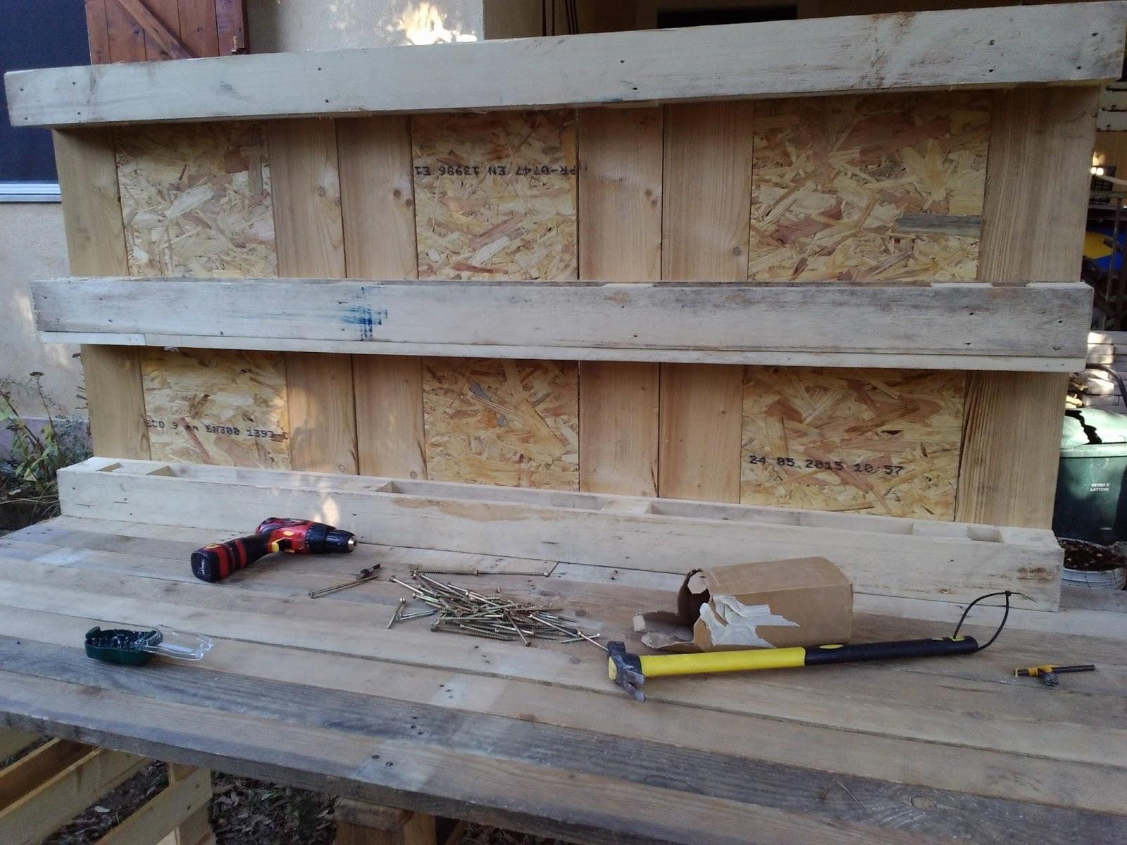 Tavolo Da Lavoro Con Bancali : Bricolage il mio nuovo vecchio banco da lavoro by delia