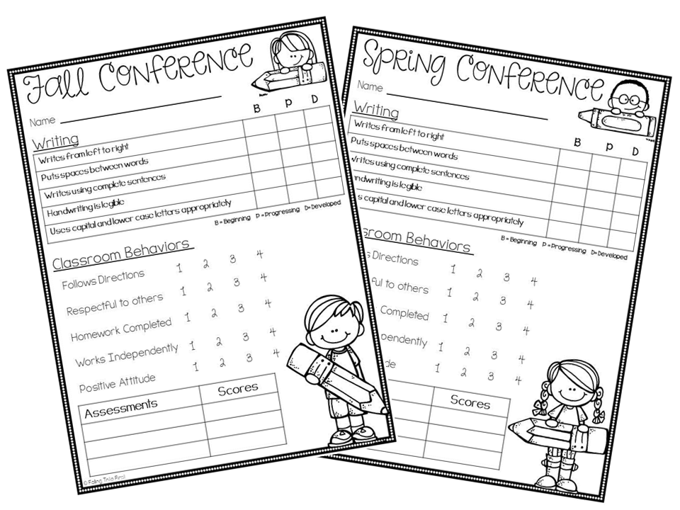 parent teacher meeting report template - blog hoppin 39 preppin 39 for conferences freebie