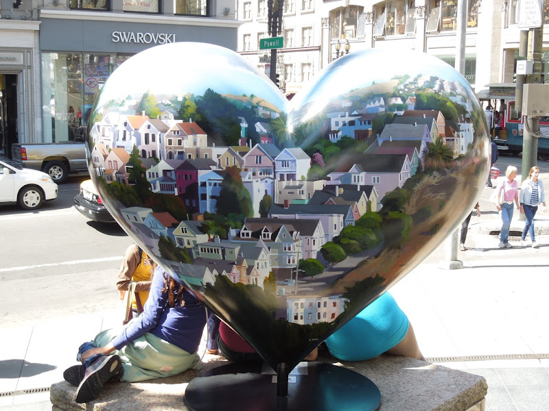 San Francisco Housescapes Heart sculpture