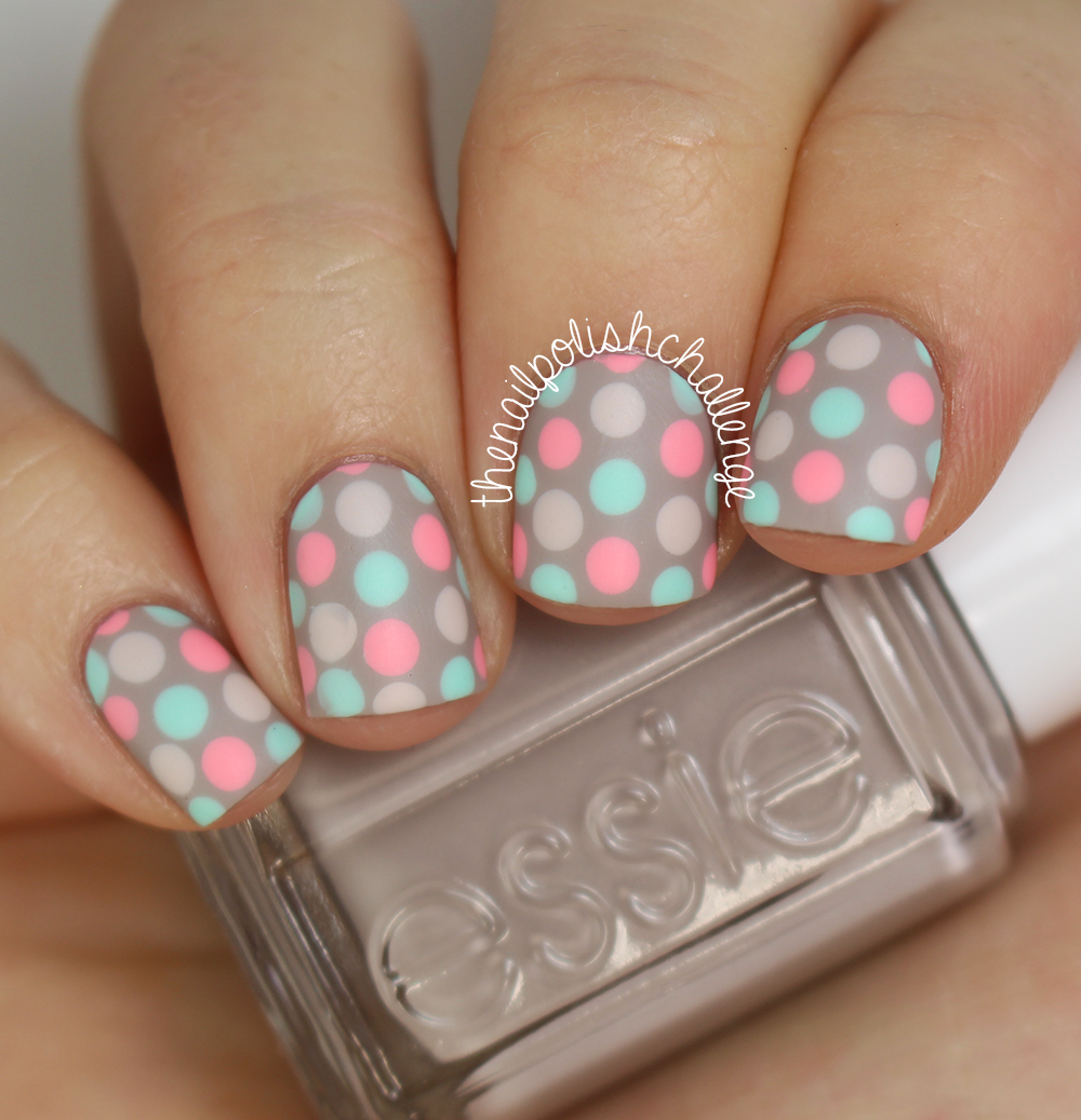 31 Day Nail Art Challenge, Day 8: Polka Dot Nail Art