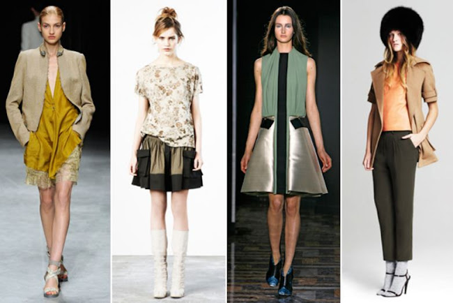 "Refinery29, Spring colour trends, Harvest Gold, Almond, Avocado Green, slightly muted, ""natural"" colors"