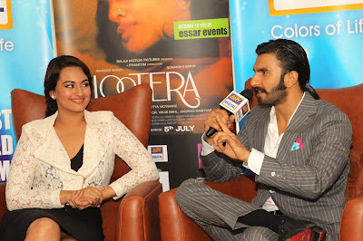Sonakshi Sinha & Ranveer Singh promote 'Lootera' in Dubai