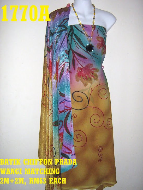 BCP 1770A: BATIK CHIFFON PRADA WANGI MATCHING, EXCLUSIVE DESIGN, 2M+2M