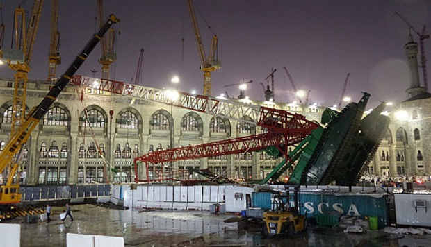 musibah crane yang jatuh di masjidil haram mekkah