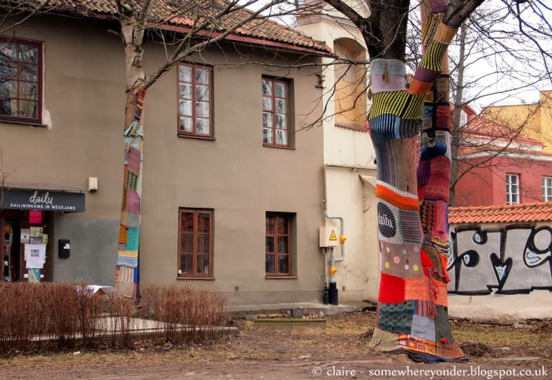 Yarn bombing - Vilnius, Lithuania