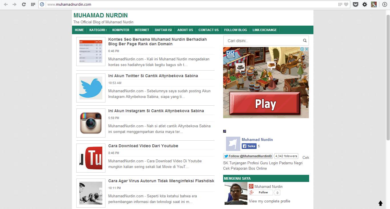 MuhamadNurdin.com - tempat belajar komputer dan internet