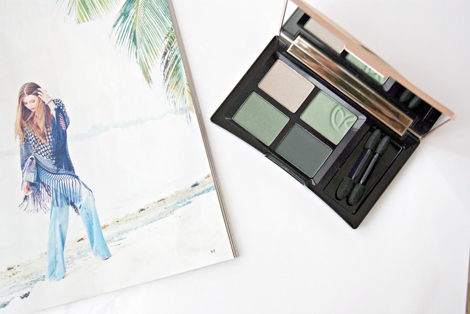makeup palette eyeshadow quad green yves rocher
