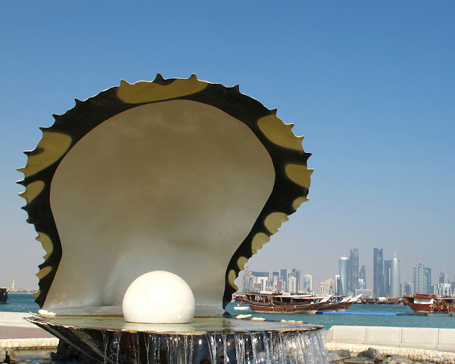 Waterfront Oyster Pearl Sculpture, Doha Bay - Qatar