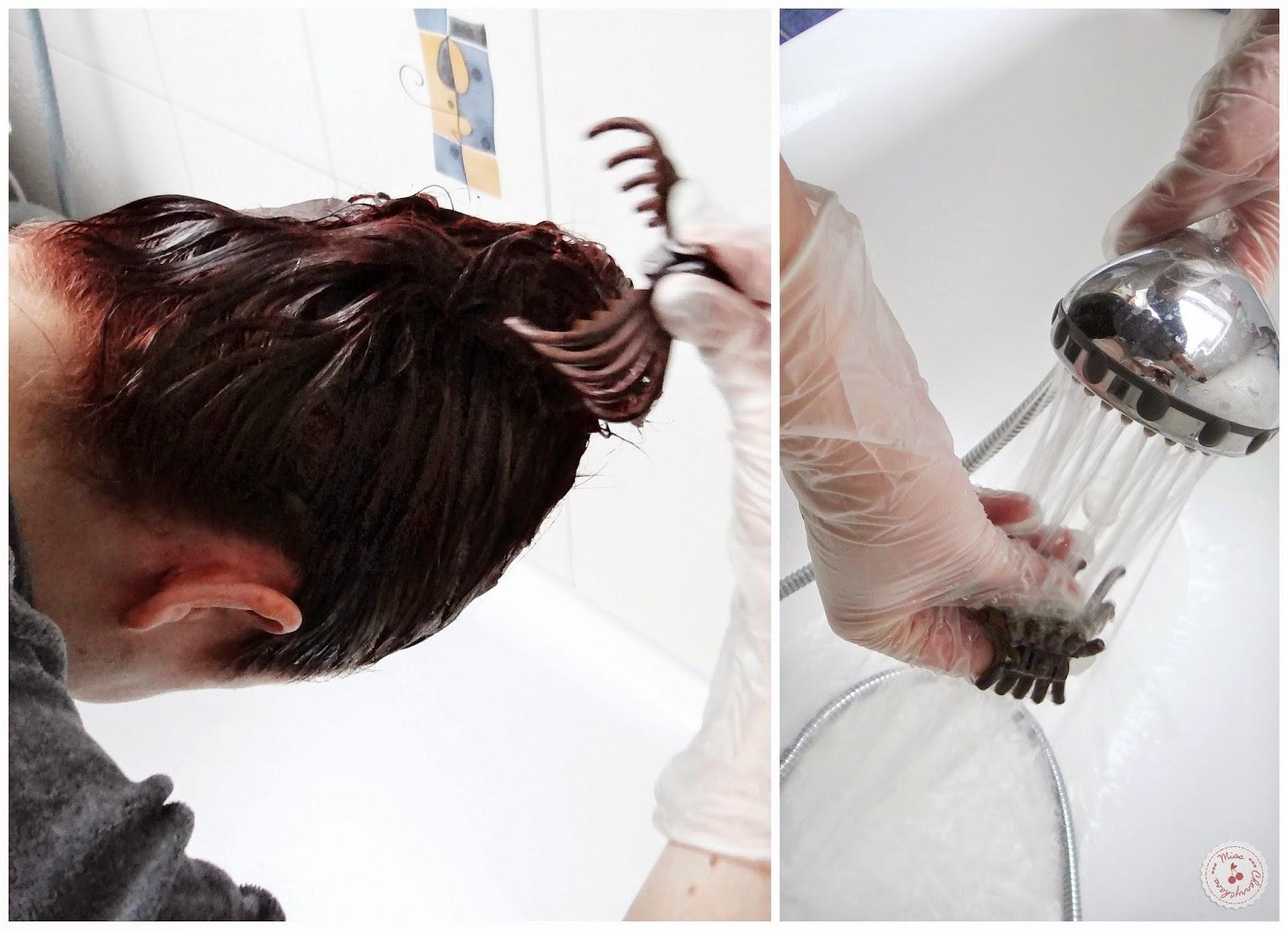 Haare waschen und dann farben