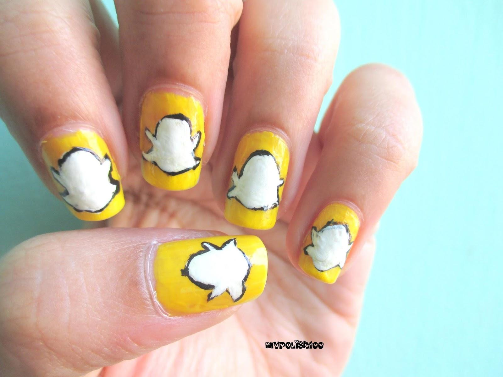 pinkrafts: diy snapchat nails for halloween