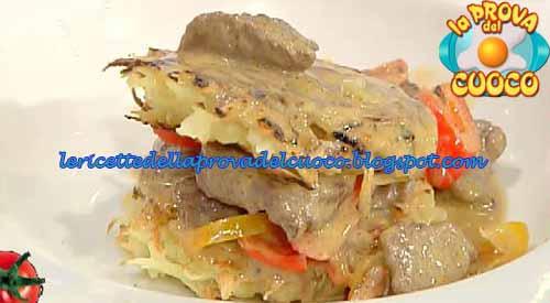Spezzatino con peperoni panna e cognac ricetta Prova del Cuoco