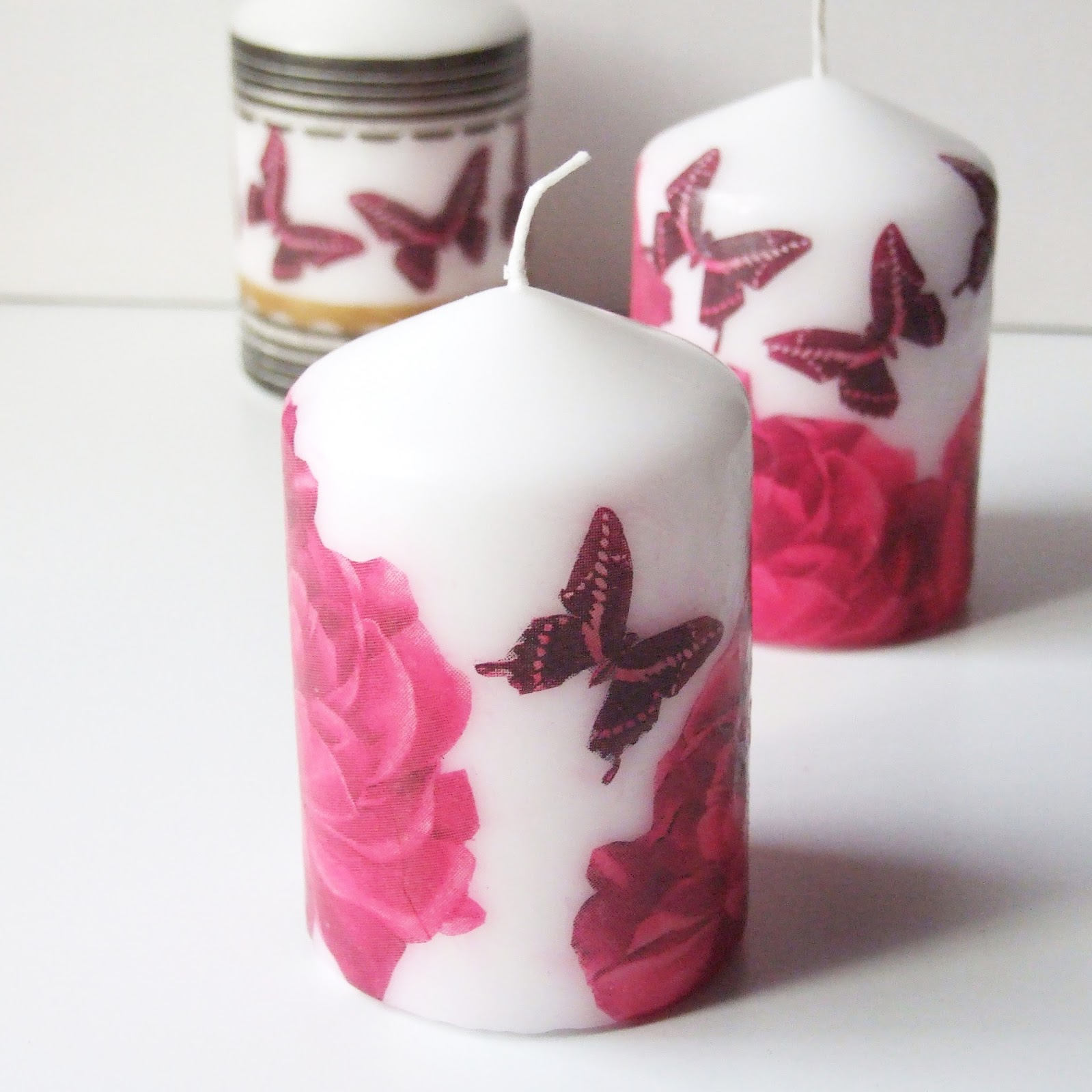 Diy Decoupage Candles