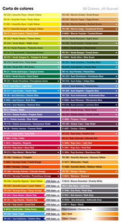 ¡Mas de 100 colores a elegir!