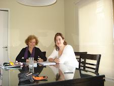 Con Isabelle de Canada en su casa