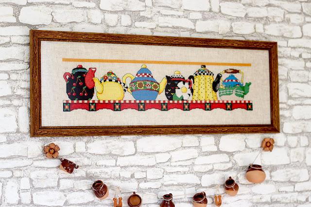 вышивка в декоре однокомнатной квартиры