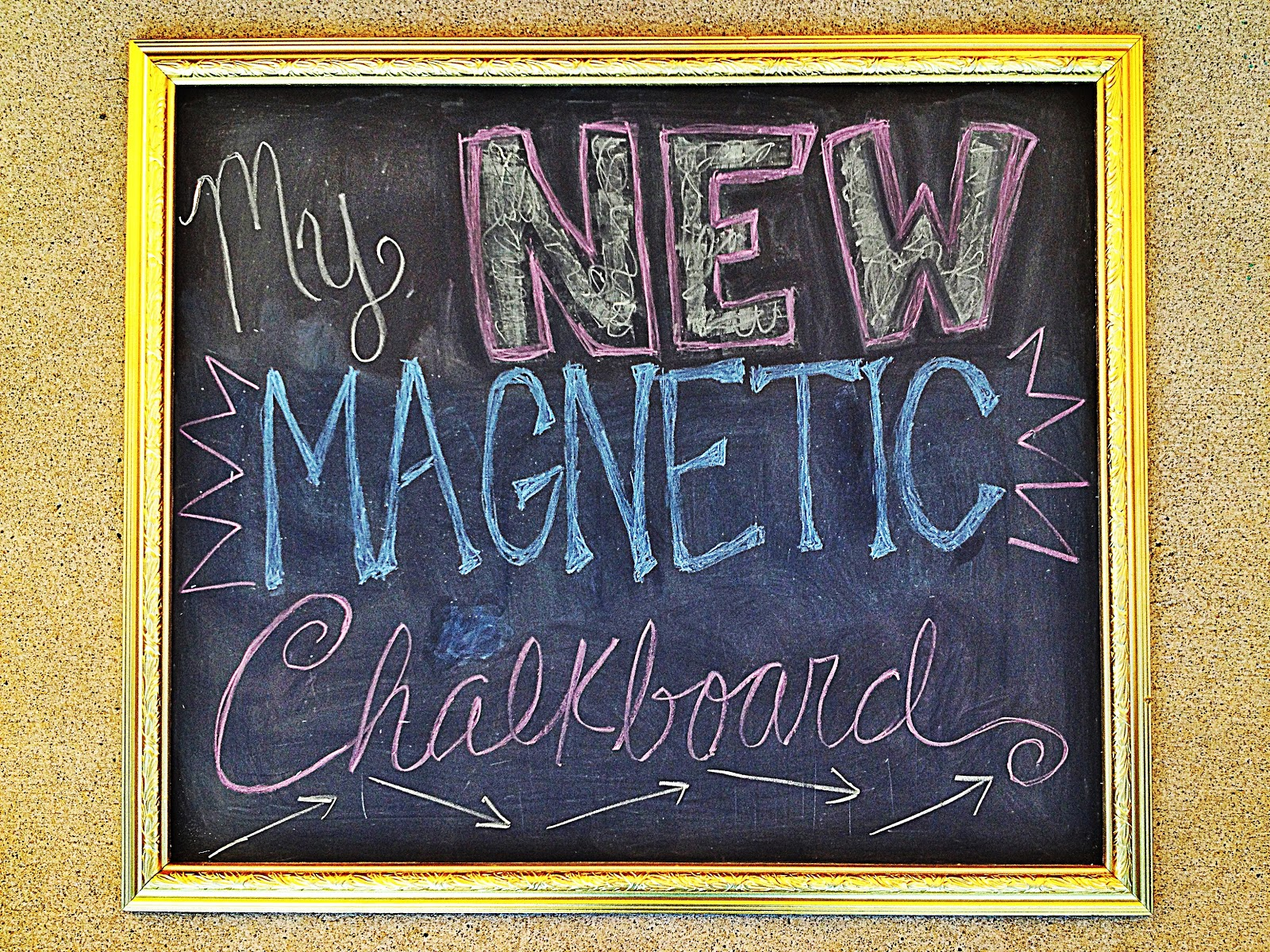 Wired And Inspired Diy Magnetic Chalkboard