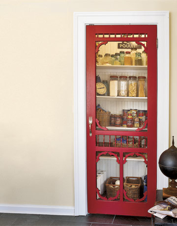 Farmhouse Kitchen Phase 2 ~ DIY Pantry W/ Antique Screen Door