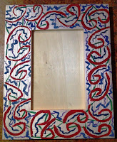 DIY Painted Wood Photo Frame Holiday Gift by UpcycleFever