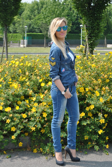 denim total look mariafelicia magno fashion blogger colorblock by felym fashion blog italiani fashion blogger italiane blog di moda come abbinare la camicia jeans outfit maggio 2015 outfit primaverili outfit primaverili casual spring outfit spring casual outfit outfit primaverili donna how to wear jeans and heels jeans and heels denim total look denim total outfit mariafelicia magno fashion blogger colorblock by felym blog di moda blogger italiane di moda milano outfit jeans skinny come abbinare la camicia di jeans come abbinare la camicia in denim jeans e tacchi denim day ragazze bionde blonde hair blonde girls pimkie replay majique london