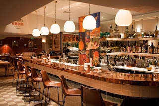 The bar at Mele e Pere, Soho