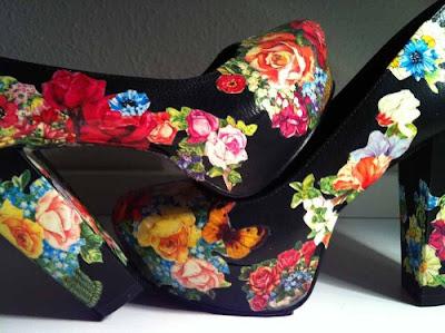 Decoupage para zapatos en Recicla Inventa
