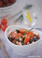 Ensalada de tomates aliñados