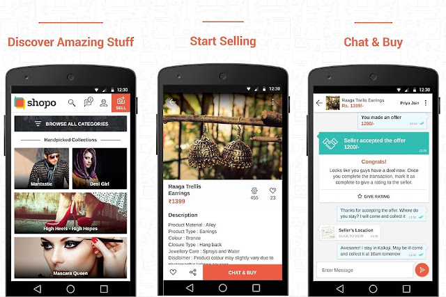 Shopo App by Snapdeal,Indian shopping app