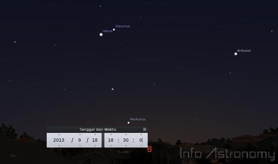 Venus dan Saturnus Berdekatan Malam Ini
