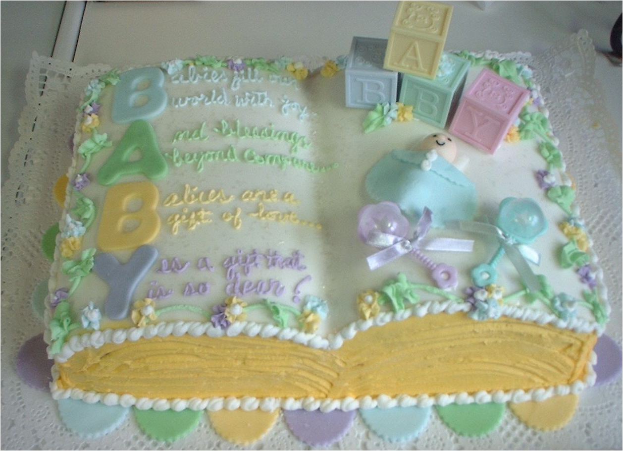 Baby shower cakes sayings girls for Baby shower cake decoration idea