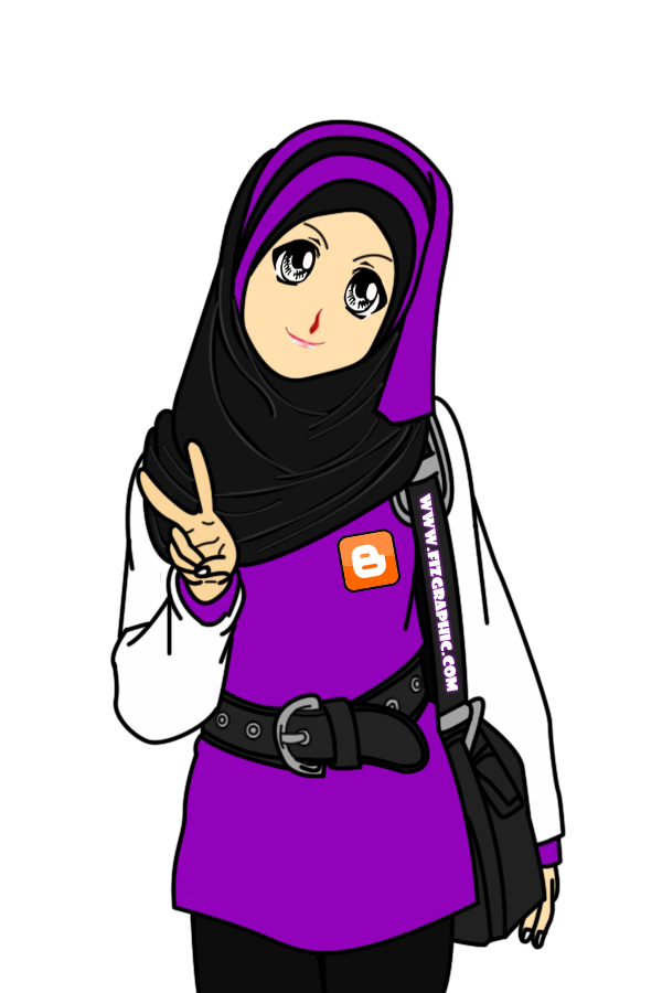 ... IEyKa♥: Freebies Cartoon Untuk Blogger Muslimah desgisn by apitzz