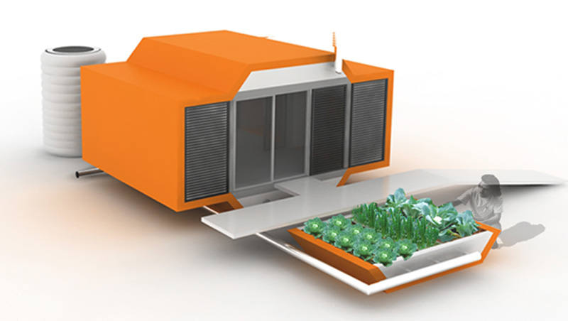 la idea se basa en una estructura de viviendas para situaciones de emergencias fue realizado como proyecto modular compuesto de varios elementos de diseo