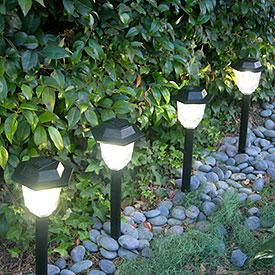 Almacen de decoraci n luces solares bienvenidas for Iluminacion para jardines energia solar