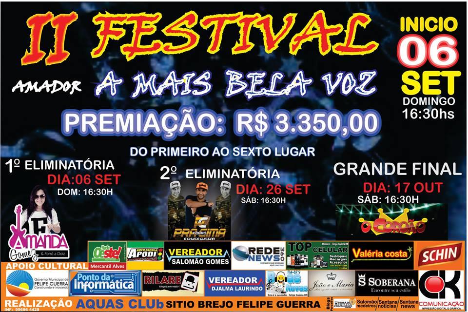 II FESTIVAL A MAS BELA VOZ AMADOR