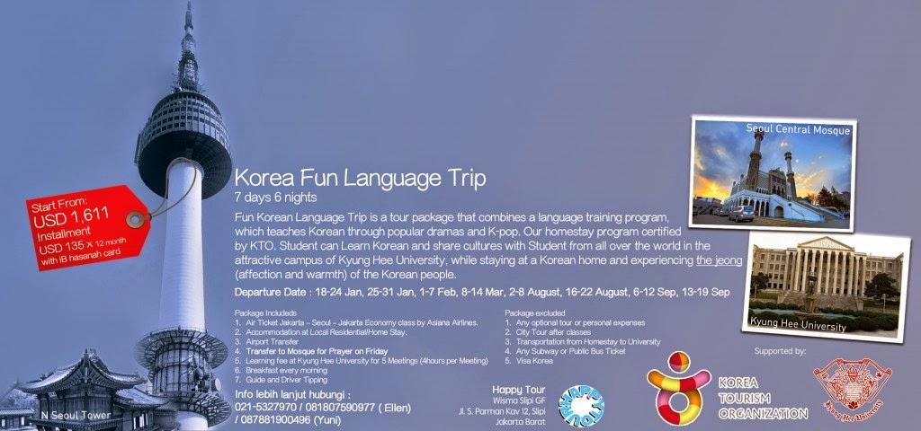 Mudahnya Homestay korea dengan iB hasanah card