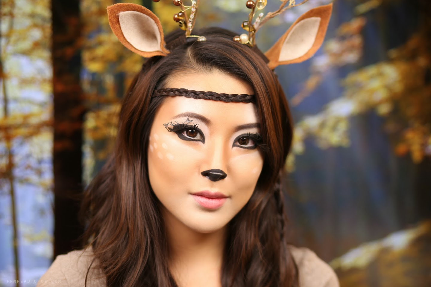 Deer Makeup Tutorial | Halloween 2013 - From Head To Toe