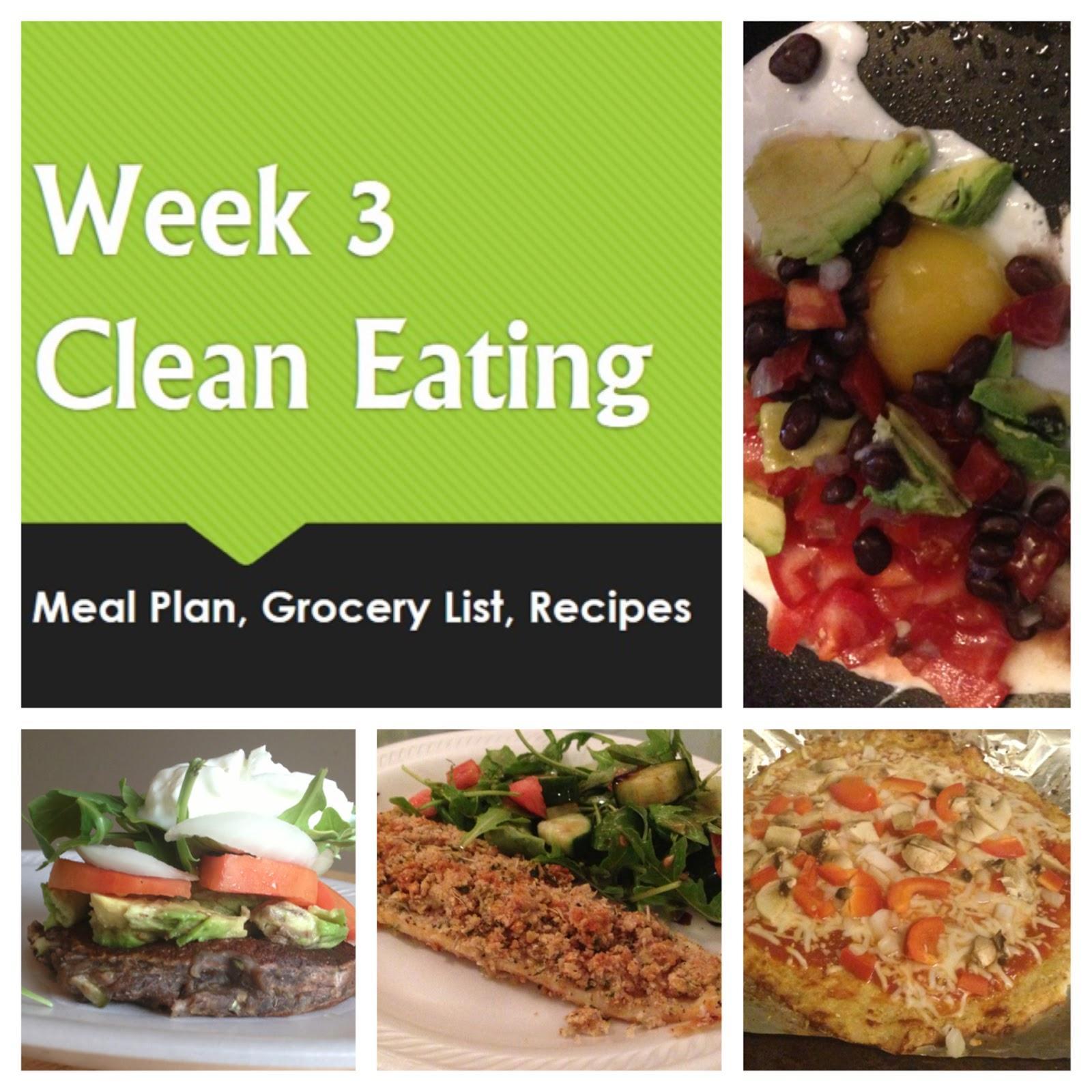 broke and bougie  week 3 clean eating meal plan  grocery