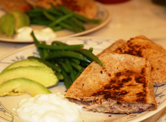 ... & Passion... The Diary of a Food Enthusiast: Pulled Pork Quesadillas