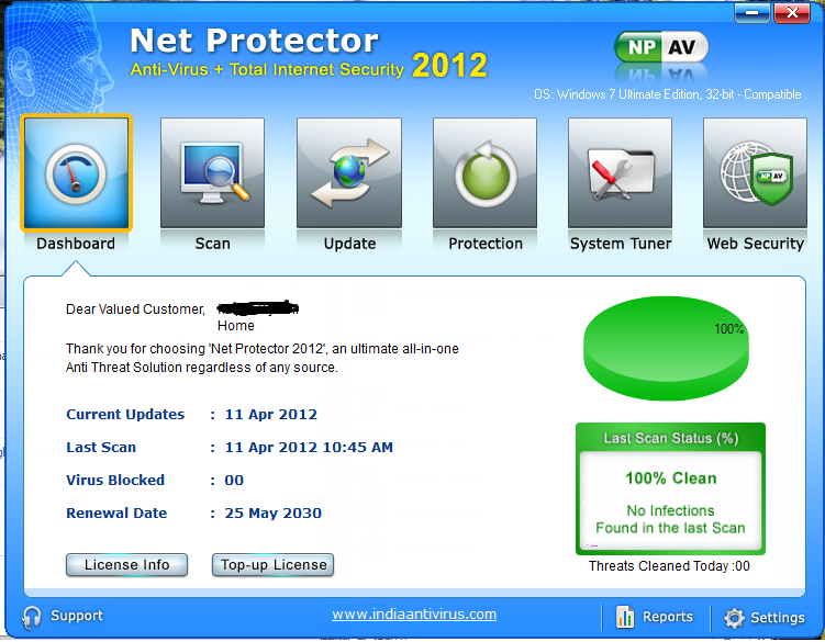 how to do boot scan in net protector