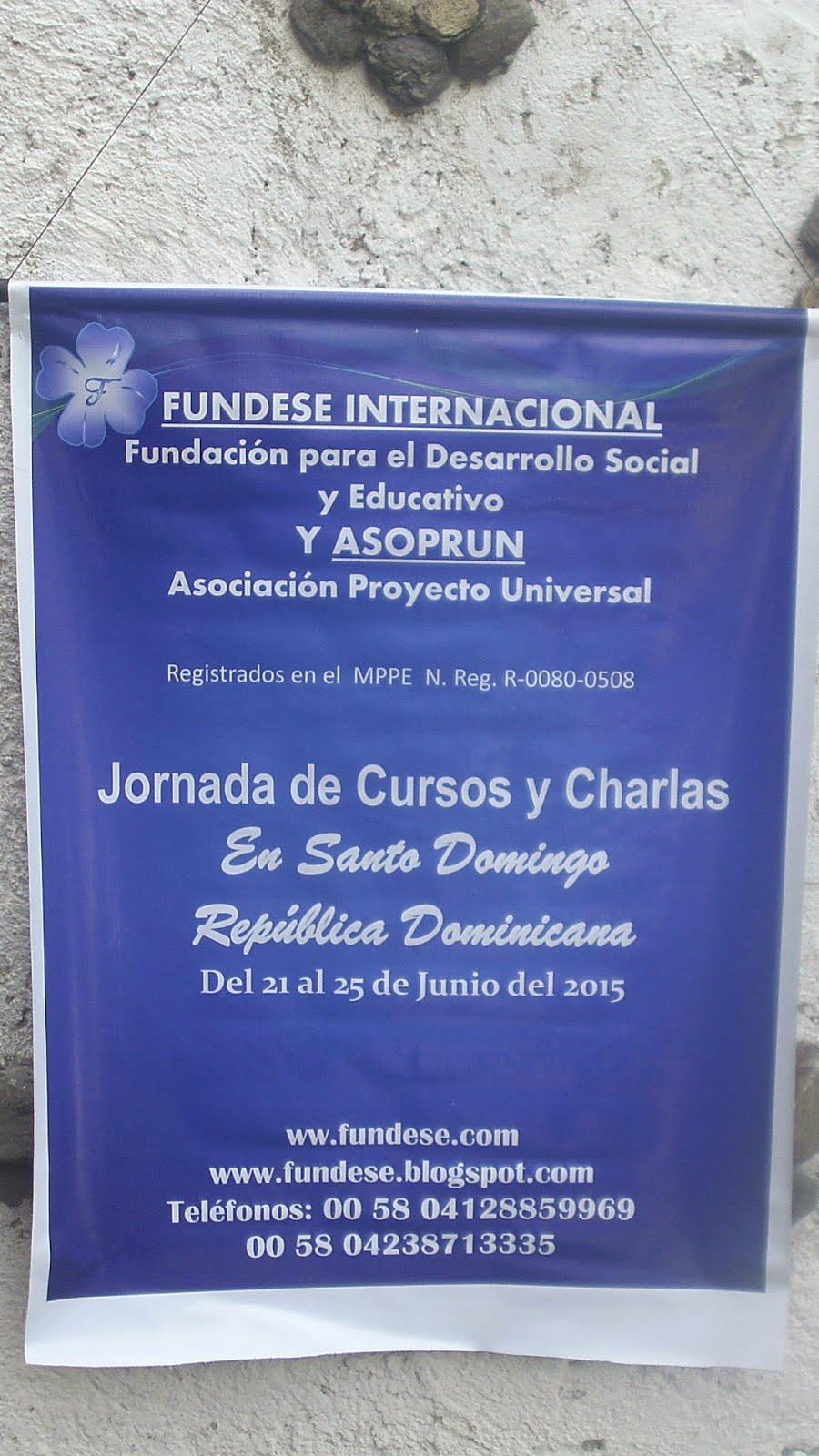 JORNADA DE TALLERES Y CHARLAS EN REPUBLICA DOMINICANA