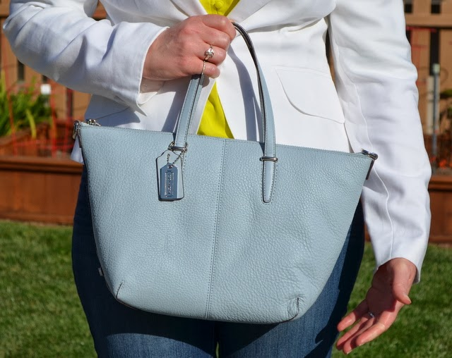 Bleecker Mini Satchel in Powder Blue | Coach